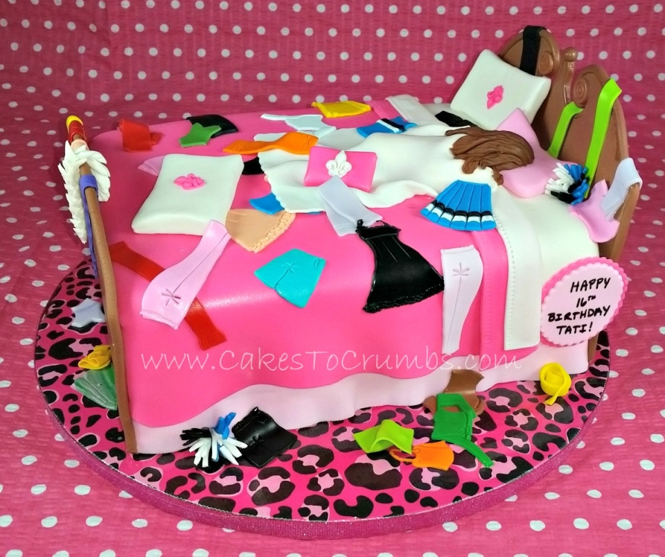 how to make a bed shaped cake