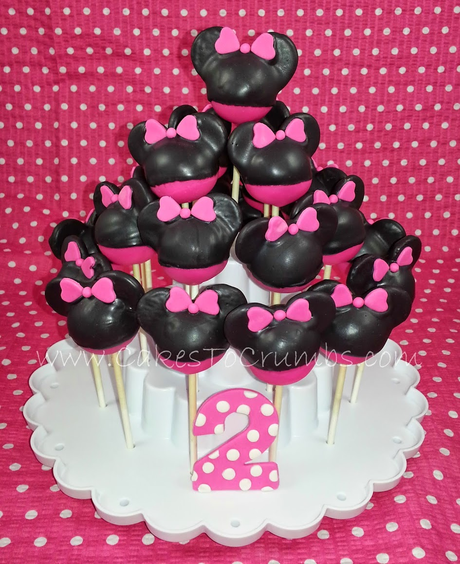 minnie mouse cake pops the crumbs 5943